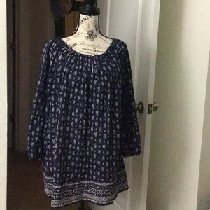 Leaf Patterned Tunic/Blouse👚
